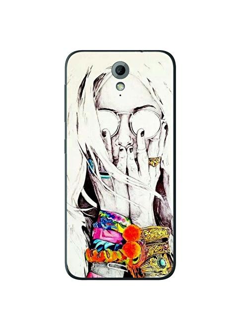 People's Cover HTC Desire 620 Kabartmalı Telefon Kılıfı Renkli